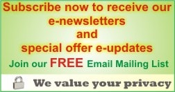 Click her for joing our FREE e-Newsletter and Special Offer e-Updtes...